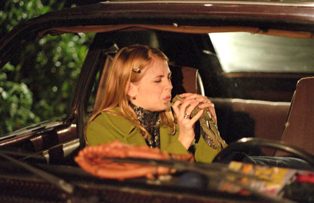 'First Kiss' - Season One - 2/14/97, Sabrina (Melissa Joan Hart) ignored Salem's warning that her kiss would turn Harvey into a frog.,