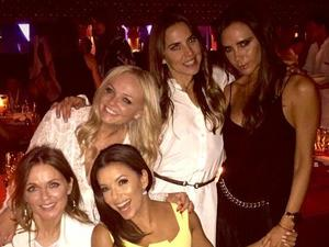 Victoria Beckham reunites with Spice Girls at husband David's 40th
