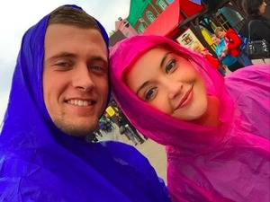Dan Osborne and Jacqueline Jossa spend day at Thorpe Park - get wet!