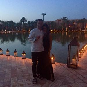 Victoria Beckham and husband David celebrate his 40th birthday in Marrakech, 2 May 2015