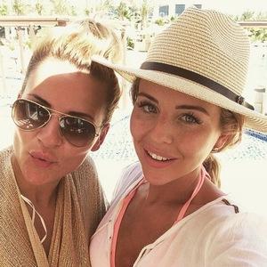 Lydia Bright and Georgia Kousoulou in Dubai 30 April