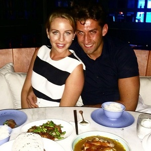 Lydia Bright and James Arg Argent have dinner in Dubai, Instagram 27 April