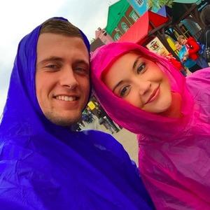 Dan Osborne and Jacqueline Jossa enjoy day at Thorpe Park, 2 May 2015