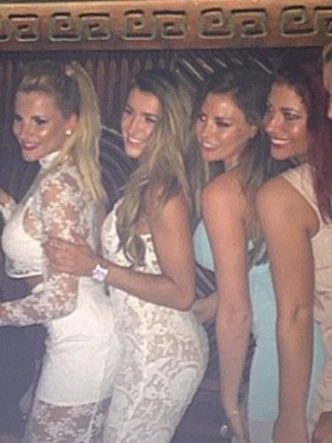Lillie Gregg and TOWIE girls in Dubai, Instagram 28 April