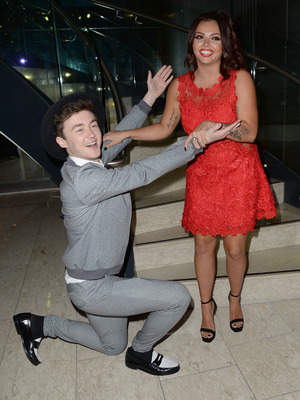 Jake Roche and Jesy Nelson attend the Once Upon A Smile Grand Ball 2015 at The Hilton Hotel, Manchester - 2 May 2015