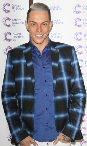 TOWIE's Bobby Norris attends the Jog On To Cancer charity bash held at Kensington Roof Gardens - 9 April 2015.