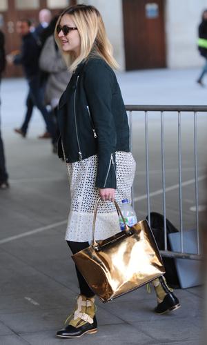 Fearne Cotton arrives at the BBC Radio 1 studios - 30 April 2015.