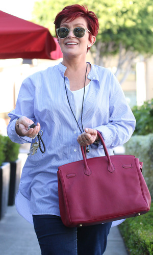 Sharon Osbourne having lunch with a friend in Los Angeles - 28 April 2015.