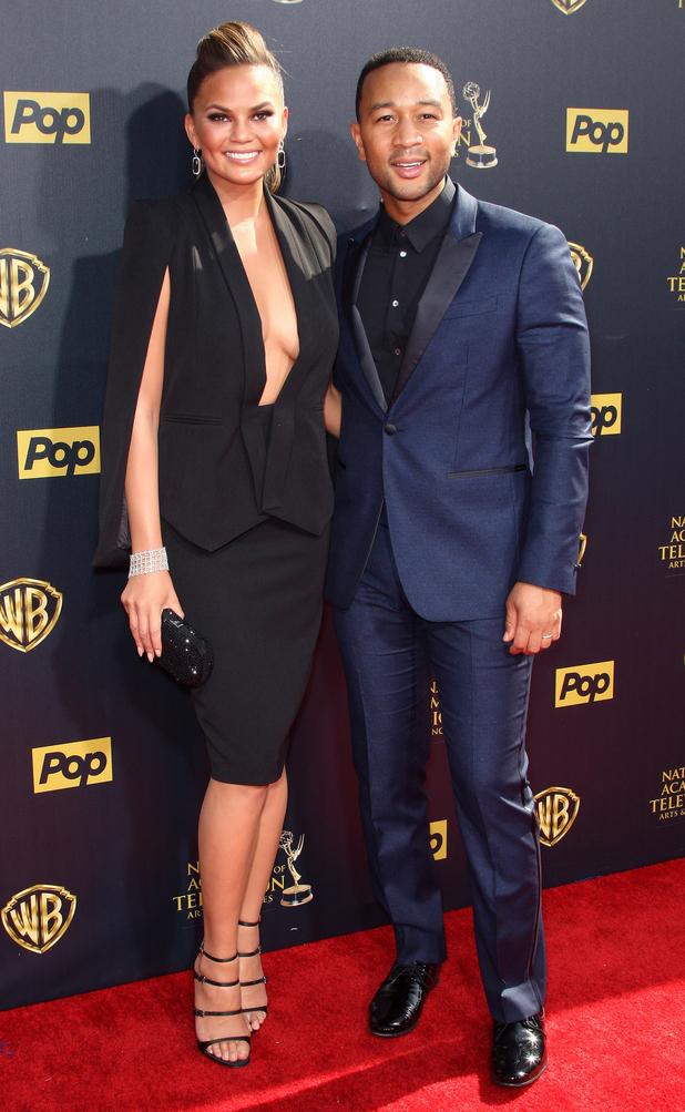 Chrissy Teigen and John Legend at the Daytime Emmy Awards 26 april