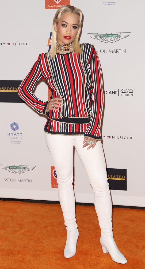 Rita Ora at the 22nd annual Race To Erase MS at Hyatt Regency Century Plaza 25 april
