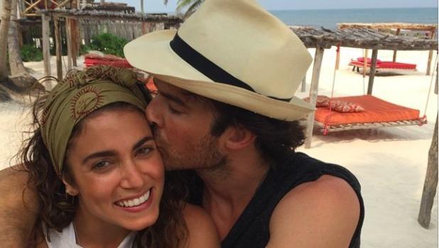 Nikki Reed and Ian Somerhalder pose for loved-up selfie, 2 May 2015