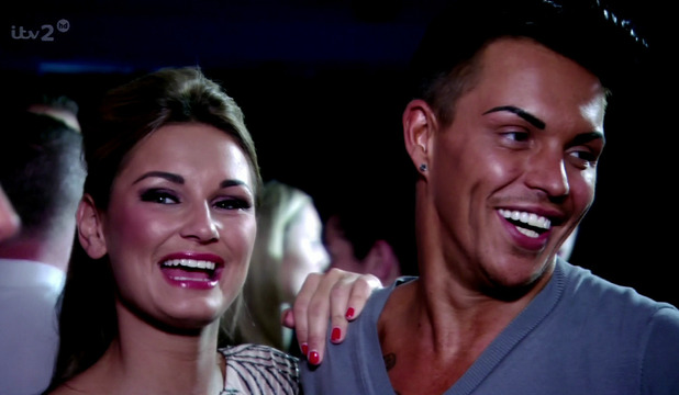 The Only Way Is Essex. Shown on ITV2 HD - Sam Faiers and Bobby Cole Norris at Carol Wrights hen do - July 2013.