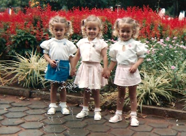 Rafaela, Rocheli and Tagiane Bini, The identical triplets who shared their big day