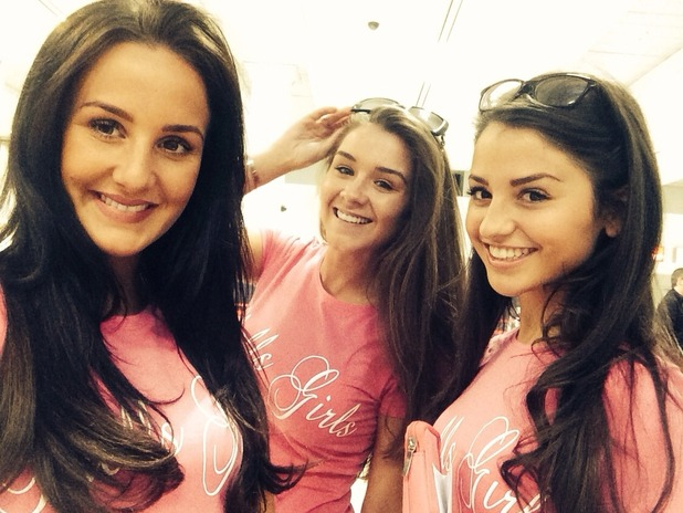 Brooke Vincent in Dubai with Michelle Keegan's cousins on hen do - 29 April 2015.