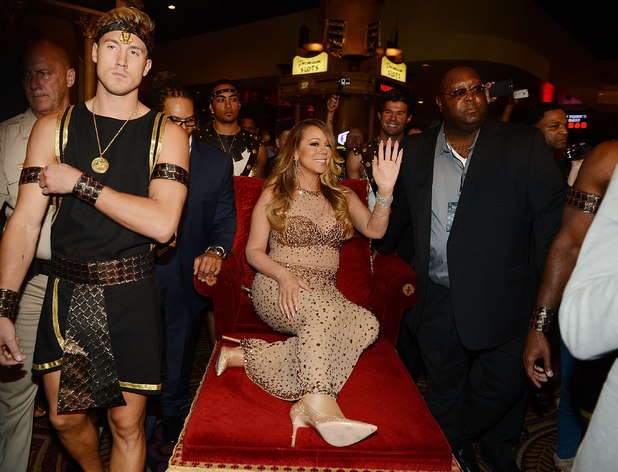 Mariah Carey arrives at Caesars Palace to launch her residency 'MARIAH #1 TO INFINITY' on April 27, 2015 in Las Vegas, Nevada.