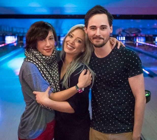 Hilary Duff, Jake Thomas and Lalaine Vergara have mini Lizzie McGuire reunion, Twitter 28 April