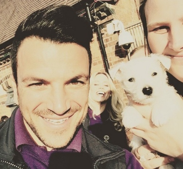 Peter Andre shares snap from Give A Pet A Home on Instagram, 28th April 2015