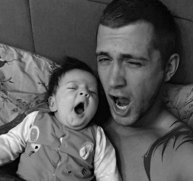 Dan Osborne mimics daughter Ella, Instagram 26 April
