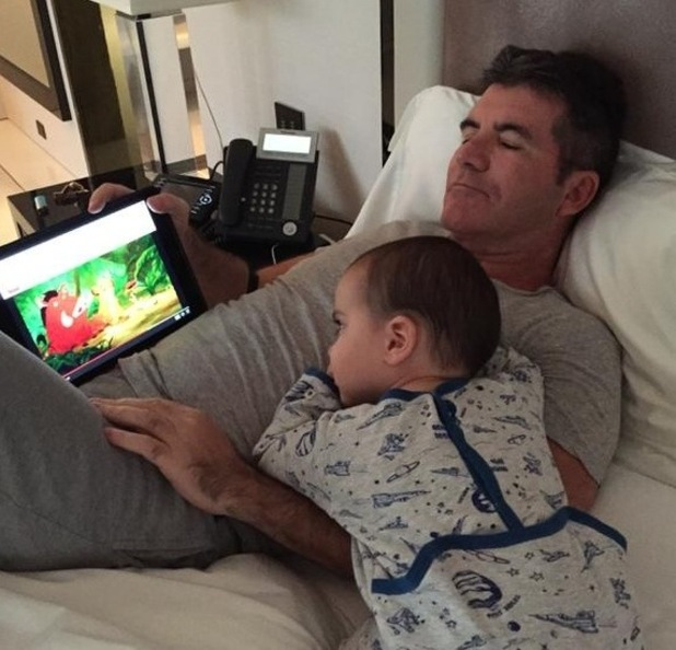 Simon Cowell and baby son Eric, Twitter 26 April