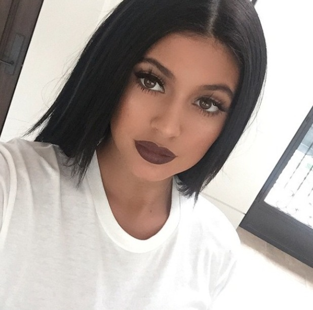 Kylie Jenner takes to instagram to share a picture of her brown lips 25 april