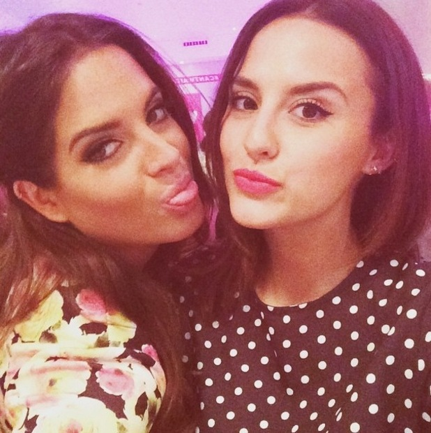 Binky Felstead and Lucy Watson, Very.co.uk party, London 29 April
