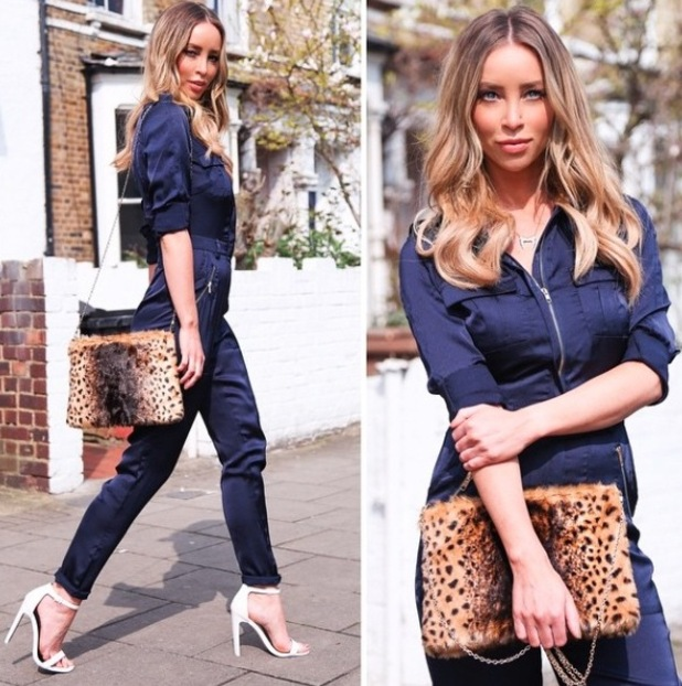 Lauren Pope shares picture of her Daisy Street jumpsuit £29.99 on Instagram