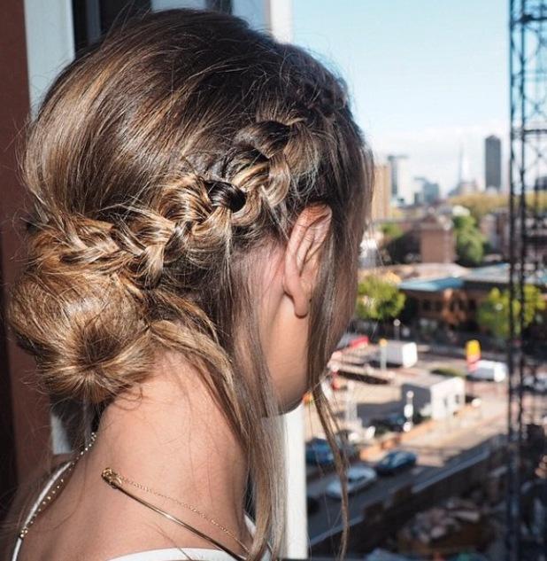 Lauren Pope very uk party braid Instagram post 29 april
