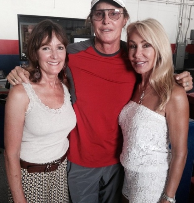 Bruce Jenner poses with ex wives Linda and Chrystie in new photo - 29 April 2015.