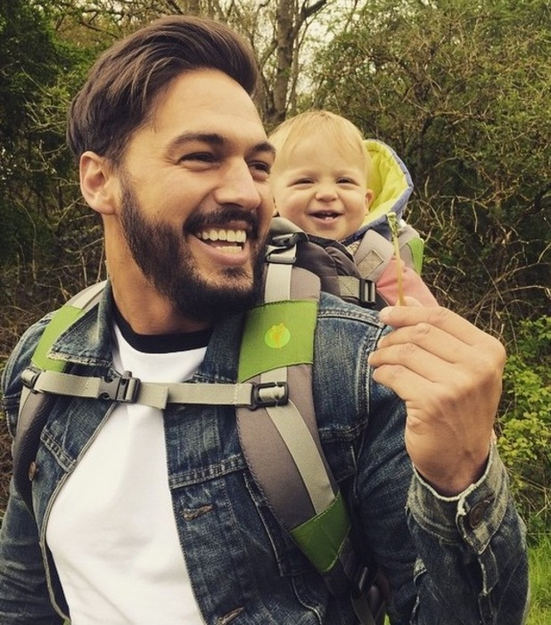 Mario Falcone shares photo of nephew Buzz laughing on Instagram 27th April 2015