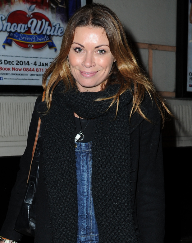 Alison King arrives at The Manchester Opera House for 'Snow White and the Seven Dwarfs' starring Priscilla Presley, 16 December 2014