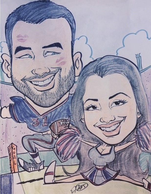 Ricky Rayment and Marnie Simpson as caricatures, Instagram 30 April
