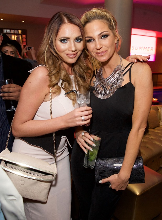 Sarah Harding and Amy Childs at the Very.co.uk VIP Summer Party at Haymarket Hotel - 29 April 2015.