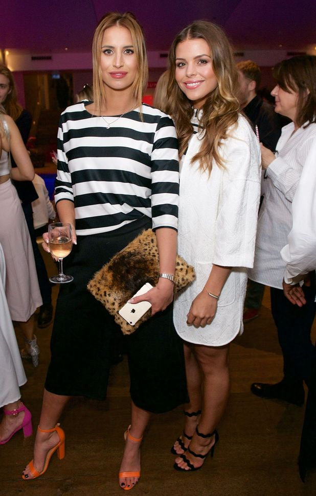 TOWIE's Ferne McCann and Chloe Lewis at the Very.co.uk #CANTWAITFORSUMMER Pool Party, London, Britain - 29 Apr 2015.