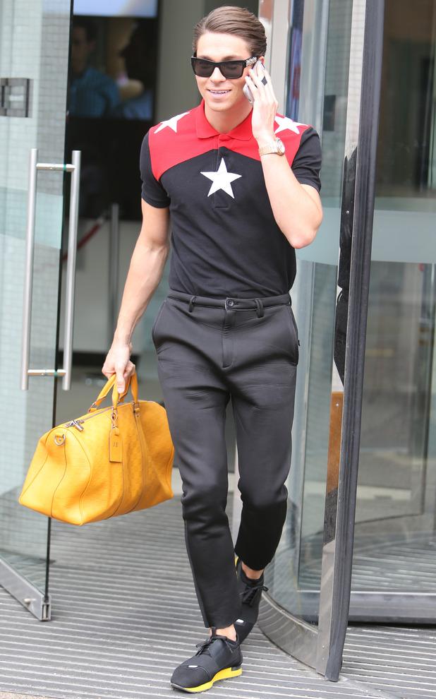 Joey Essex outside the ITV Studios, London 1 May