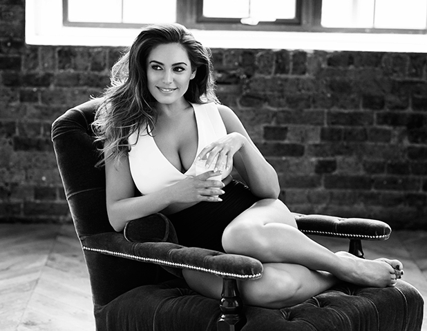 Kelly Brook appears in Red's June issue, on sale 30 April