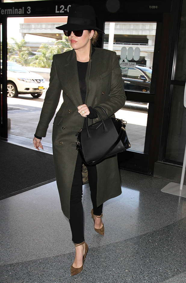 Khloe Kardashian seen at LAX on April 27, 2015 in Los Angeles, California. (Photo by GVK/Bauer-Griffin/GC Images)