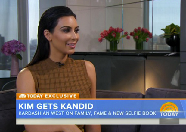 Kim Kardashian West appears on Today show, 27 April 2015
