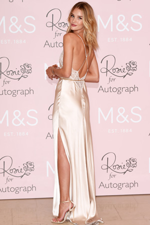Rosie Huntington-Whiteley at her M&S lingerie launch on 29 January 2015