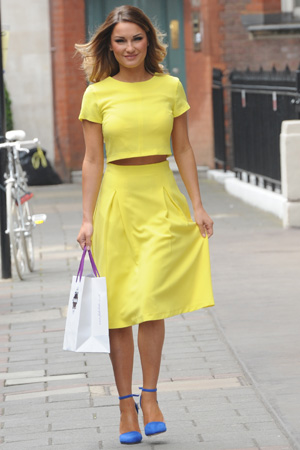 Sam Faiers leaves Fake Bake events on 2 April 2014