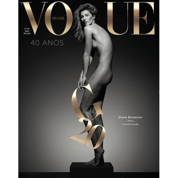 Gisele instagrams pictures of her shoot with Vogue Brasil 28 april