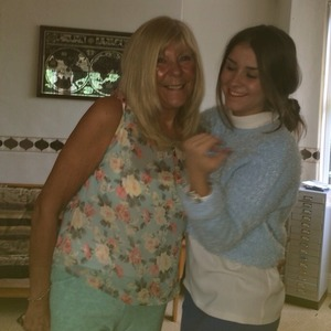 Brooke Vincent with her nan - 6 May
