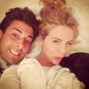 Lydia Bright and James 'Arg' Argent share loved-up bed selfie, 2 May 2015