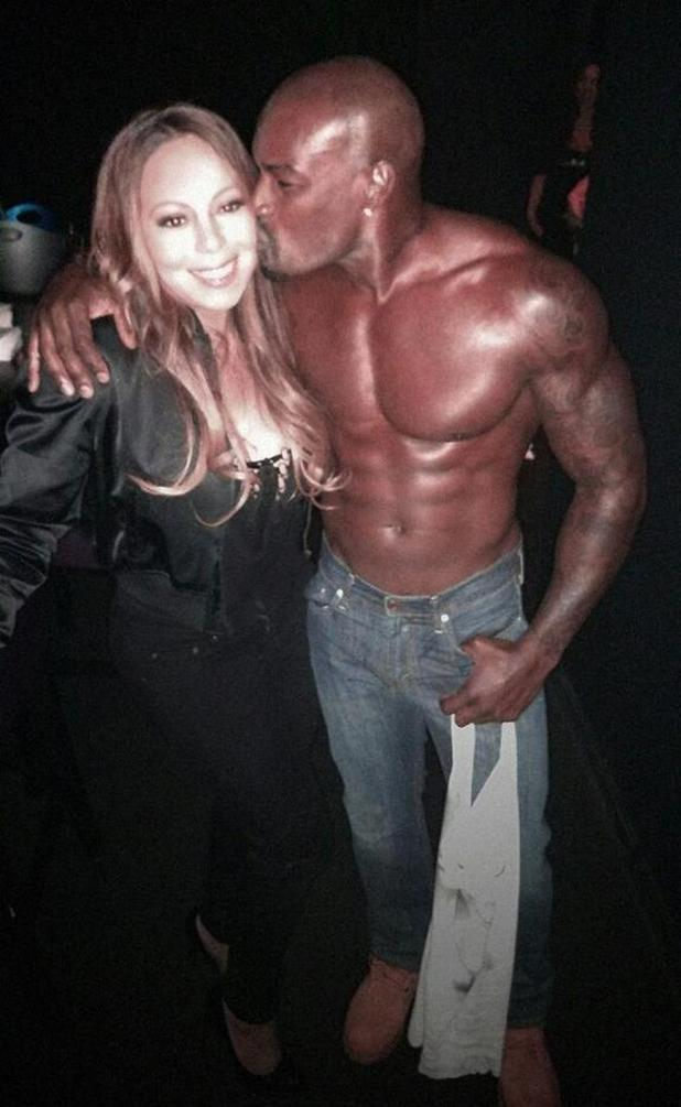 Mariah Carey attends Chippendales show in Las Vegas to support Tyson Beckford - 7 May.