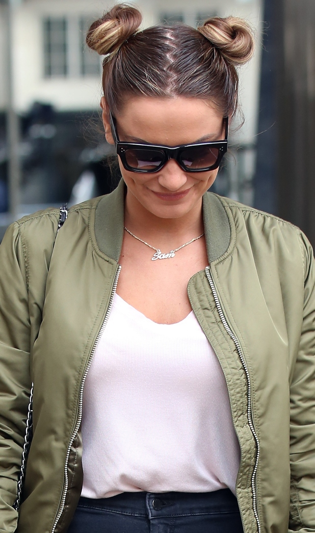sam faiers at the radio1 interview thursday 7th may