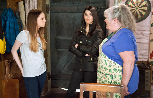 Emmerdale, Lisa warns Belle off Lachlan, Mon 11 May