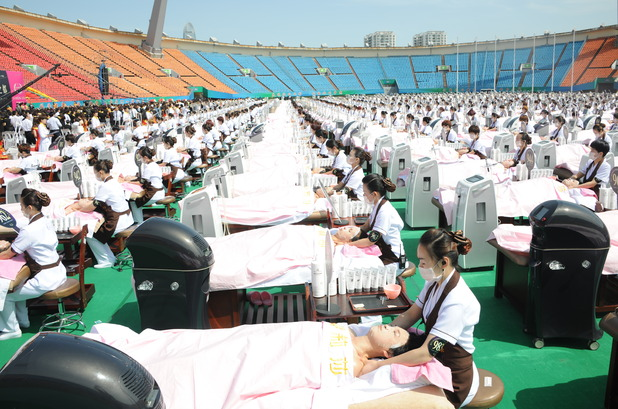 Guinness World Record for most people receiving facial beauty care at the same time