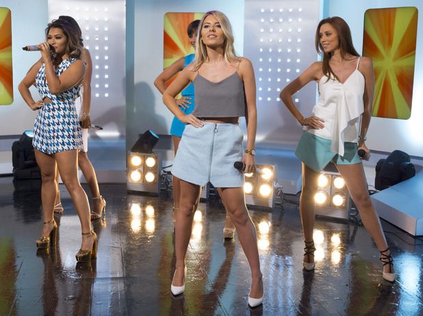 The Saturdays on 'This Morning' TV Programme, London, Britain. - 11 Aug 2014