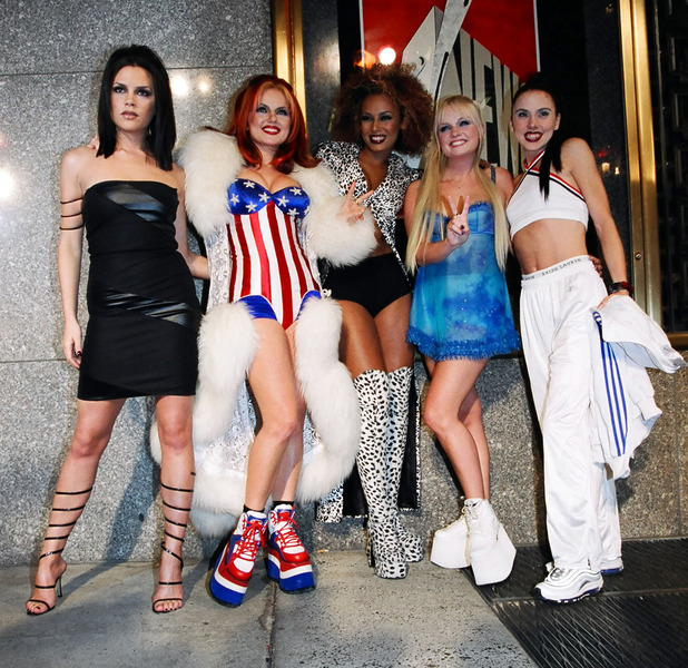 The Spice Girls 90s style platform trainers 8th May 2015