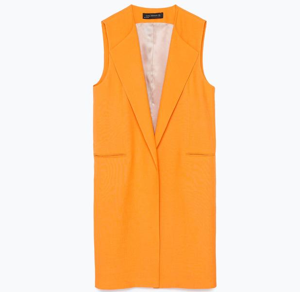 Zara Long Line Waistcoat £69.99 8th May