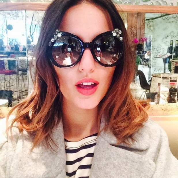 Lucy Watson heads to New York with friend, Instagram 7 May